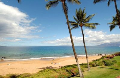 Beautiful, Sandy Pa'ipu Beach directly in front of our Makena Surf B-204