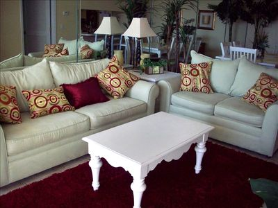 Living Room with Queen Sleeper Sofa