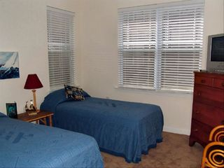 Calabash condo photo - Second of three bedrooms has single beds.TV