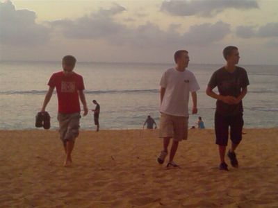The boys on the beach