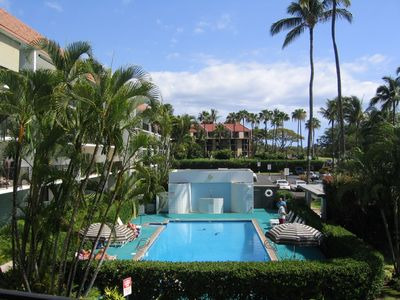 Our View of Maui Parkshore pool, it is pristine.