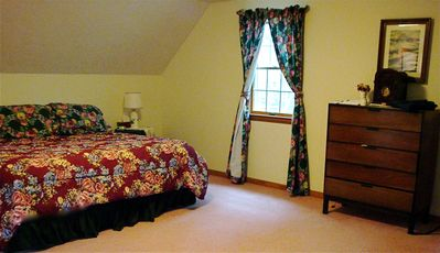 Master bedroom with King Bed, double closets and attached bath