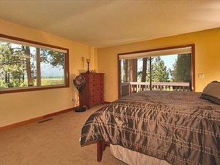 Al Tahoe estate photo - Upstairs master suite with serene views of Mt. Tallac, meadow and lake