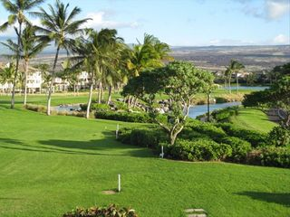 Waikoloa Beach Resort condo photo - Another view from lanai.-Kings Ponds & waterfall