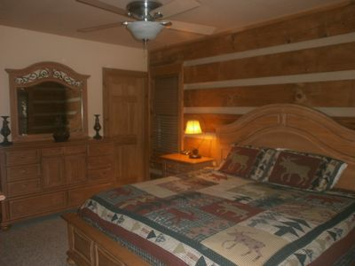 One of two master suites on the main floor has all brand new Broyhill furniture