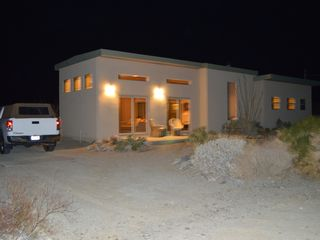 Borrego Springs house photo - The ranch at night with slab parking for motor home