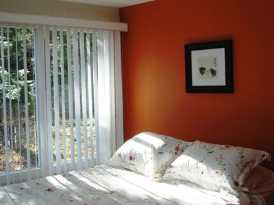 Stockbridge house rental - 2nd Bedroom with porch and view of lake