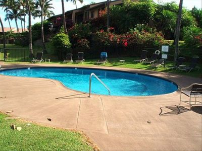 This is the pool located just steps away from the condo!