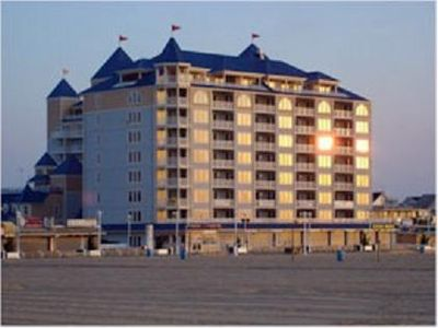 Belmont Towers Ocean City condo rental - Building from Beach!
