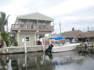 Key Largo house photo - view of back of house, dock your boat!
