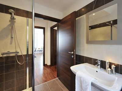 Modern bathroom with power shower