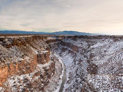 View from Rio Grande Gorge bridge courtesy Julia Timmer Photography