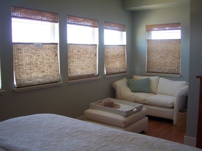 Pacific City house rental - Master bedroom sitting area. Has ocean views
