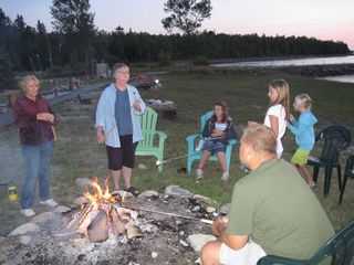 Drummond Island house photo - Family time around the fire.