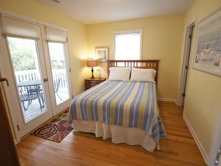 Bedroom #2 ...French doors to front deck. - Folly Beach house vacation rental photo