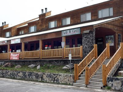 Brian Head condo rental - General store, restaurants, and ski shops a short walking distance away.