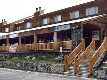 General store, restaurants, and ski shops a short walking distance away.
