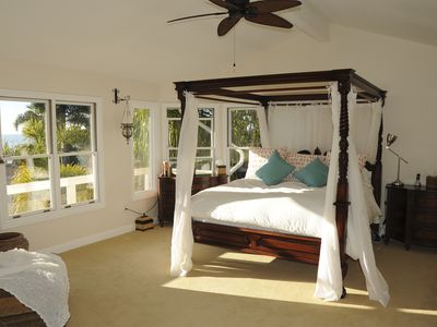 Master Bedroom location exclusively on 3rd floor, white water view of ocean