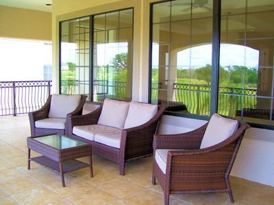 Great Balcony to overlook the pool and Golf Course
