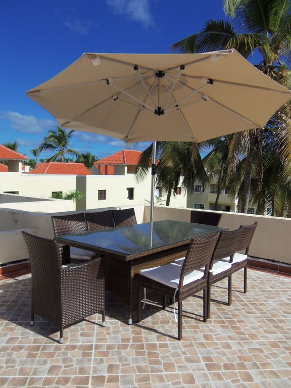 Your Very Own Private 8 Seater Dining Area with Parasol
