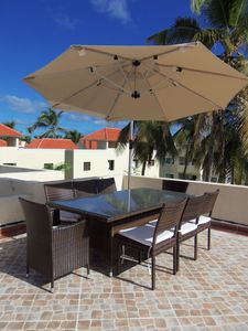 Bavaro apartment rental - Your Very Own Private 8 Seater Dining Area with Parasol