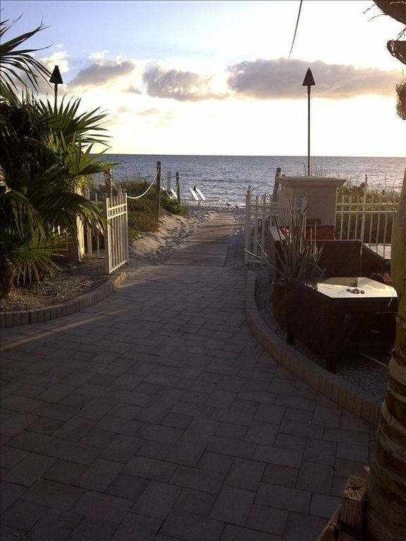 Path from pool to beach