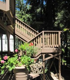 Boulder Creek apartment rental - Upstairs, off the main deck a haven of privacy and quiet await you.