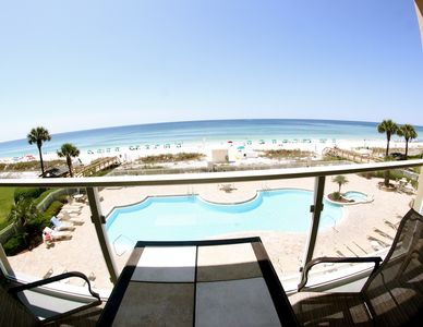 Center View of Pool with Beach Service Newly Remodeled! Steps from the Beach!!!