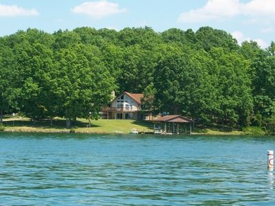 View of the home from the lake.