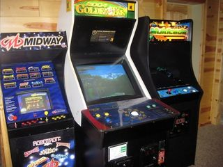 Lake Arrowhead house photo - Real arcade games, Golden Tee, Multicade, 60 classics, 30 Atari classics, mega.