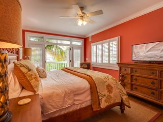 Key West house photo - The 4th bedroom has a large flat screen TV and an overhead fan.