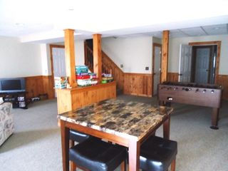 Tannersville townhome photo - Finished basement, Foosball, TV, PlayStation, Queen Sleeper, Full Bath