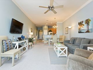 Ormond Beach condo photo - Enjoy our beautiful new living room with large HDTV and lake vie