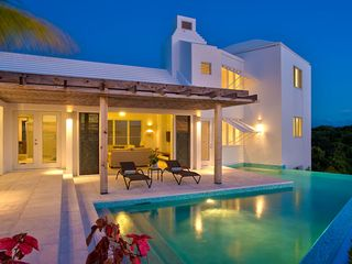 Providenciales - Provo villa photo - Evening at Valhead Villa....