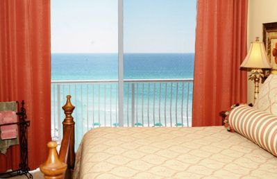 Enjoy gulf front views and balcony access from this Master Suite!