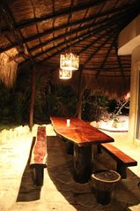 Tulum villa photo - Exterior dining area, poolside - seating for 10