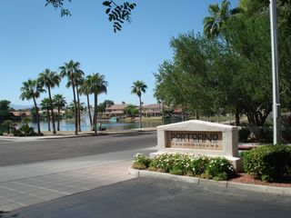 Ahwatukee condo photo - Resort style living in convenient location Entrance and Lake