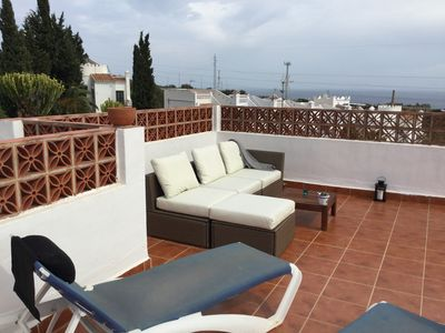 Amazing views from 3 large terraces, over the sea, mountain and Nerja city!