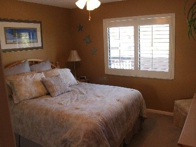 BR 2 is bright w/plantation shutters and neutral colors. All BRs are carpeted.