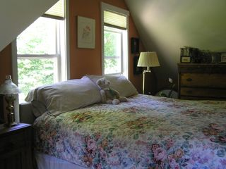 Waitsfield house photo - One of the Upstairs bedrooms. King-sized bed.