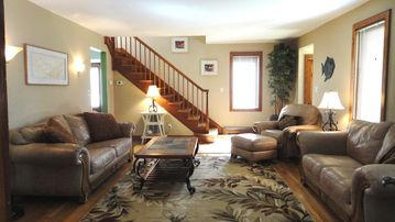 Living Room....very comfortable, large enough for your entire family to visit.