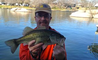 Burnet cottage photo - Large mouth bass caught from shore on 2-26-12..GOT FISH? GOT WATER? WE DO!!!