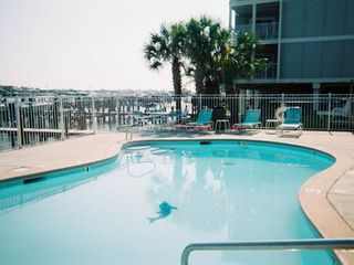 Orange Beach condo photo - Bay side pool