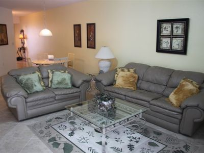 Comfortable living room with pull out queen size couch
