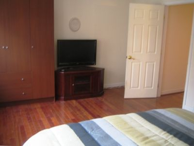"Another view of the sleeps four bedroom with 37"" LCD HDTV and DVD"