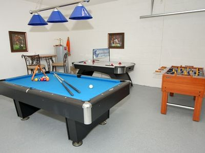 Games room with top of the range pool table