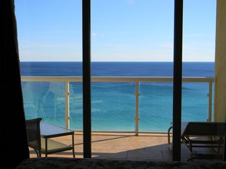 Pensacola Beach condo photo - View of the ocean from Master BR, w/ sliding door to balcony