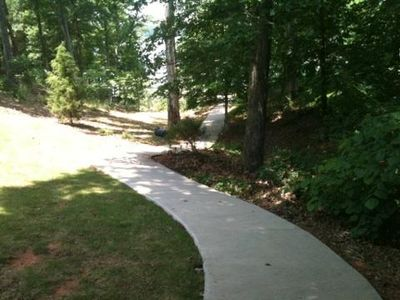 Concrete Path to Lake!
