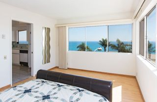 Malibu villa photo - 5th Bedroom with Queen bed and 180 degree Ocean View to 2 sides (corner room)