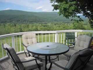 Williamstown house photo - Enjoy dinner from the grill on this beautiful deck with its retractable awning